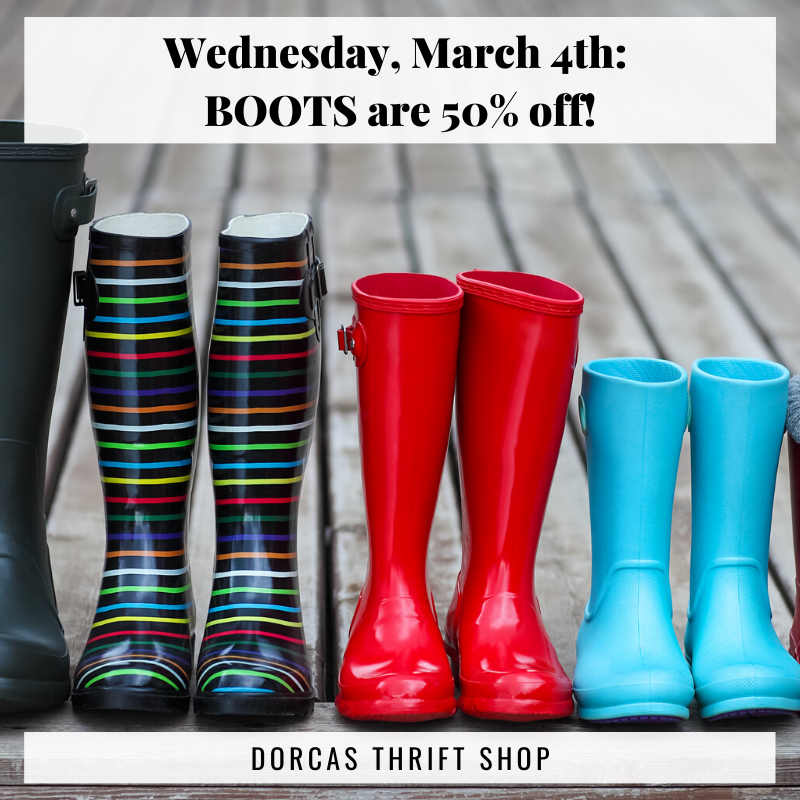 Boot Sale on March 4th, 2020!