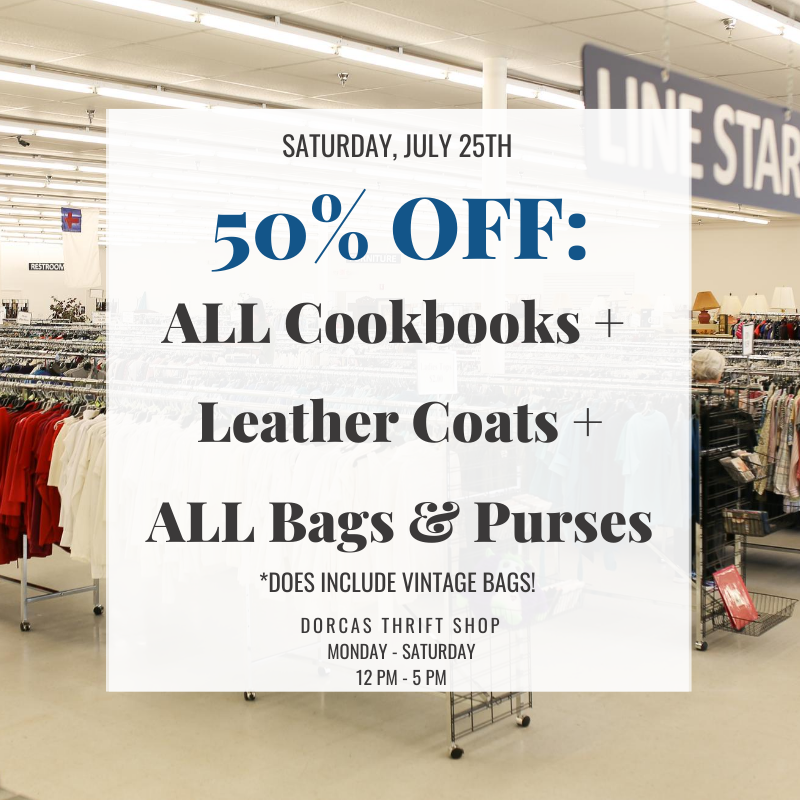 7/25/2020 Sale: ALL Cookbooks + Leather Coats + ALL Bags and Purses are 50% OFF! *does include vintage bags!